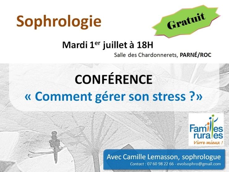 Conférence Sophrologie gestion stress